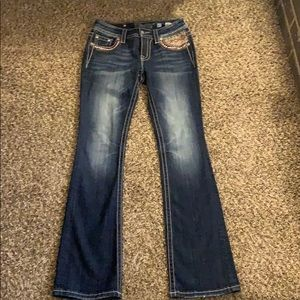 MISS ME Mid-Rise Boot Cut Jeans Size 27x34
